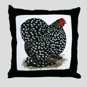 Cochin Black Mottled Hen Throw Pillow
