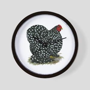 Cochin Black Mottled Hen Wall Clock