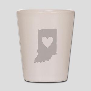 Heart Indiana Shot Glass