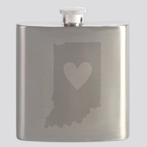 Heart Indiana Flask