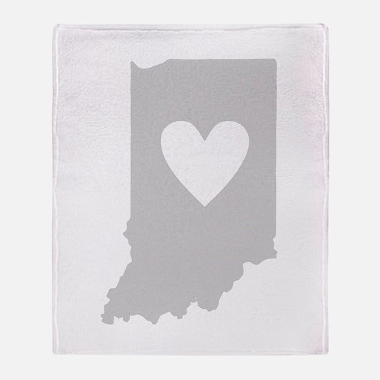 Heart Indiana Throw Blanket