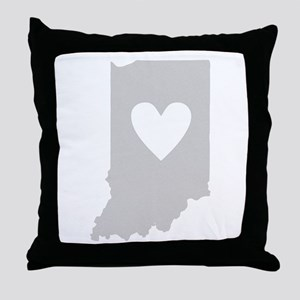 Heart Indiana Throw Pillow