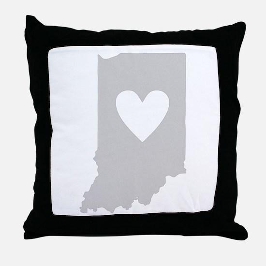 Heart Indiana Throw Pillow