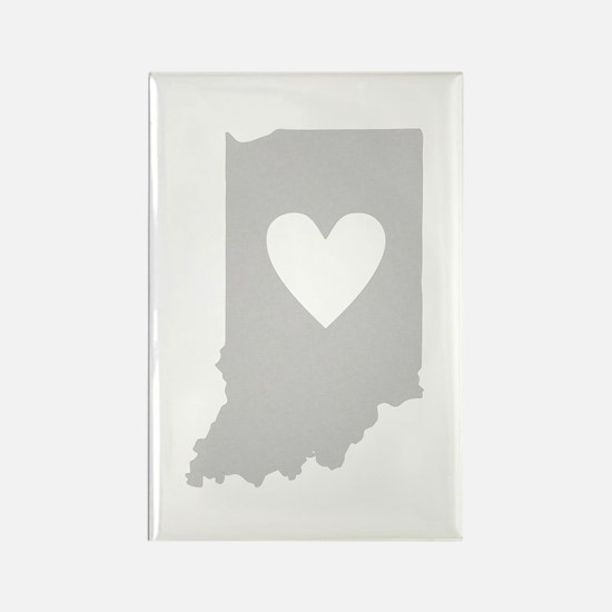 Heart Indiana Rectangle Magnet