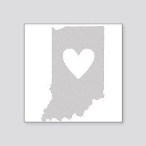 "Heart Indiana Square Sticker 3"" x 3"""