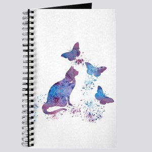 Cat and butterflies Journal