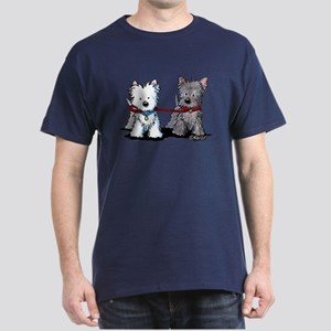 Terrier Walking Buddies Dark T-Shirt