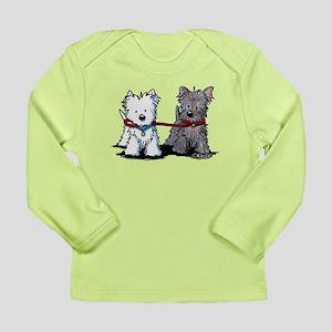 Terrier Walking Buddies Long Sleeve Infant T-Shirt