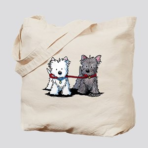 Terrier Walking Buddies Tote Bag