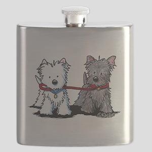 Terrier Walking Buddies Flask