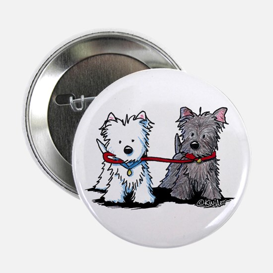 "Terrier Walking Buddies 2.25"" Button"