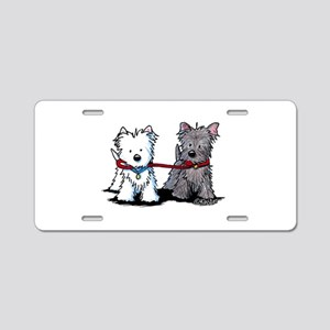 Terrier Walking Buddies Aluminum License Plate