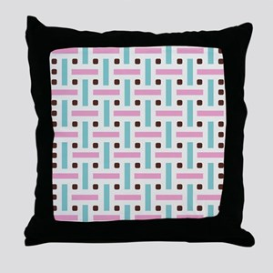 Pastel Color Pattern Throw Pillow