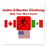 Border-2-Border Challenge Square Car Magnet 3