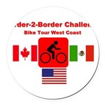 Border-2-Border Challenge Round Car Magnet