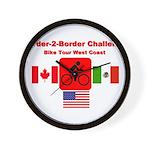 Border-2-Border Challenge Wall Clock