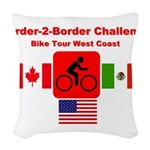 Border-2-Border Challenge Woven Throw Pillow