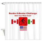 Border-2-Border Challenge Shower Curtain