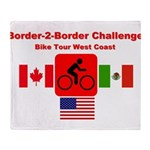 Border-2-Border Challenge Throw Blanket