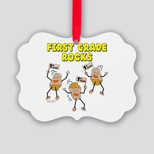 First Grade Rocks Picture Ornament