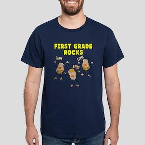First Grade Rocks Dark T-Shirt