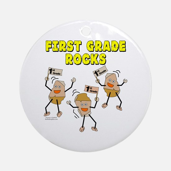 First Grade Rocks Ornament (Round)
