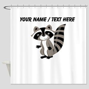 Custom Cartton Raccoon Shower Curtain