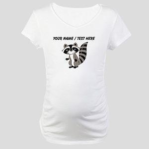 Custom Cartton Raccoon Maternity T-Shirt