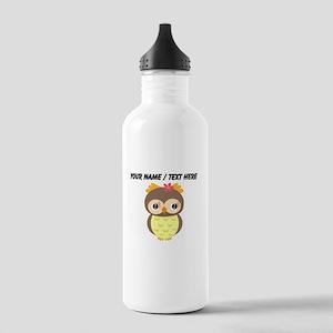 Custom Cartoon Owl Water Bottle