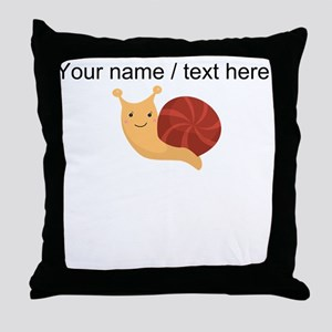Custom Cartoon Snail Throw Pillow