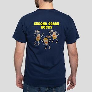 Second Grade Rocks Dark T-Shirt