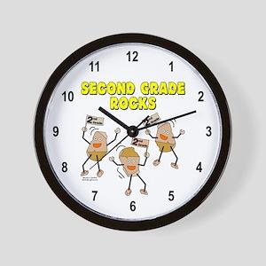 Second Grade Rocks Wall Clock