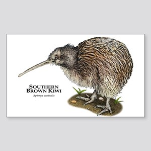 Southern Brown Kiwi Sticker (Rectangle)