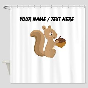 Custom Cartoon Squirrel Shower Curtain