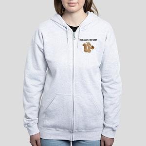 Custom Cartoon Squirrel Zip Hoodie