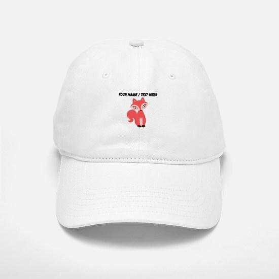 Custom Cartoon Red Fox Baseball Baseball Baseball Cap