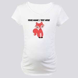 Custom Cartoon Red Fox Maternity T-Shirt