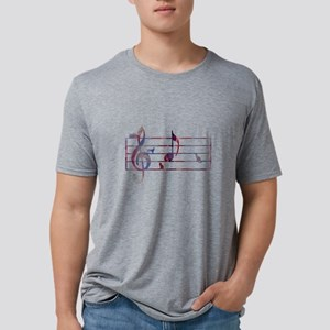Musical Note 'A' - with cat Mens Tri-blend T-Shirt