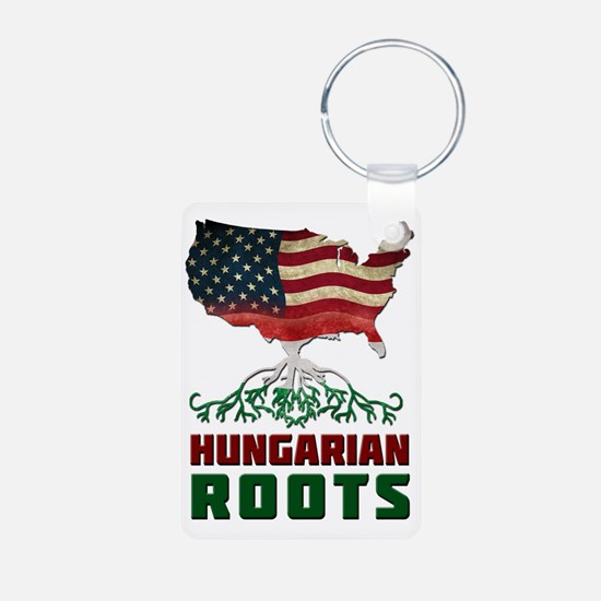 American Hungarian Roots Keychains