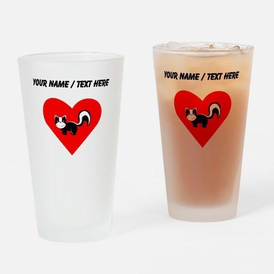 Custom Skunk Heart Drinking Glass