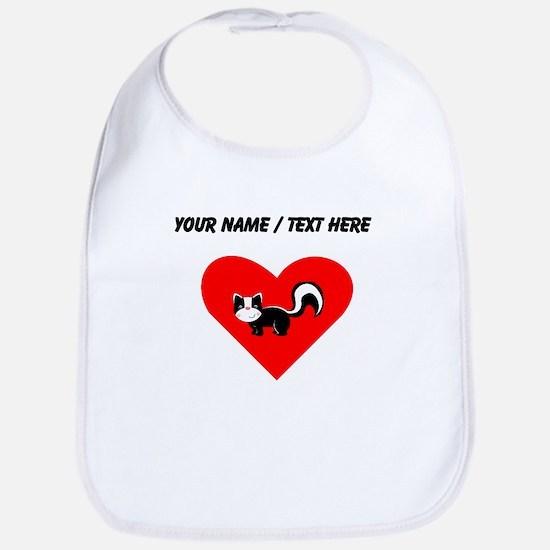 Custom Skunk Heart Bib