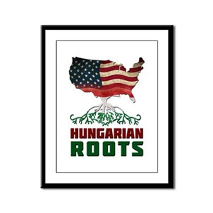 American Hungarian Roots Framed Panel Print