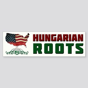 American Hungarian Roots Bumper Sticker