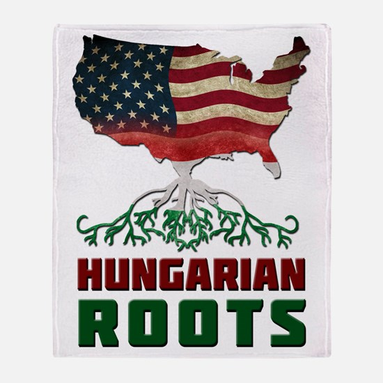 American Hungarian Roots Throw Blanket