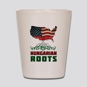 American Hungarian Roots Shot Glass