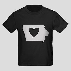 Heart Iowa Kids Dark T-Shirt
