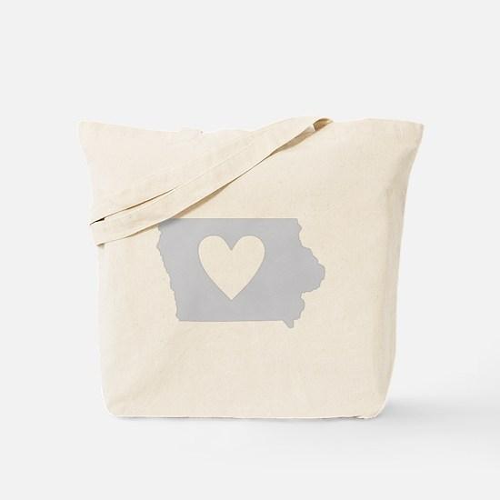 Heart Iowa Tote Bag