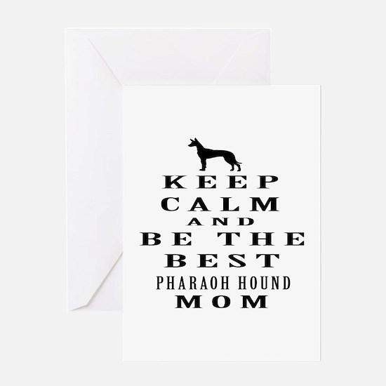 Keep Calm Pharaoh Hound Designs Greeting Card