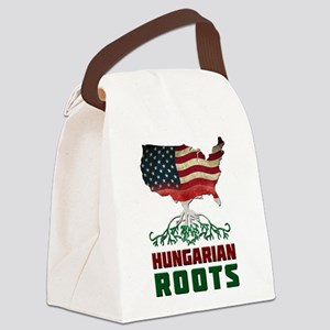 American Hungarian Roots Canvas Lunch Bag