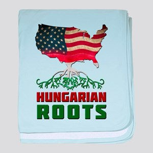 American Hungarian Roots baby blanket